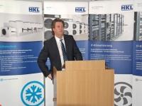 HKL-Vorstand Martin Maul begrüßt seine Gäste...