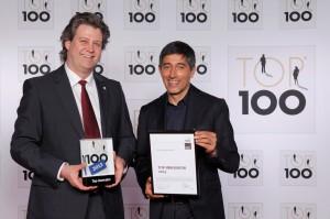 Ranga-Yogeshwar mit Martin Maul bei der TOP100-Verleihung 2013