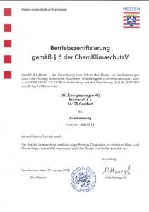 Zertifizierung 2015